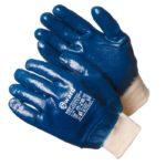 Перчатки полиэфирные нитритный облив маслобензостойкие синие в ставрополе