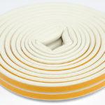 Уплотнитель самоклеящийся промышленный ZOOM Industrial D-профиль 12х10 белый, 50м/6шт в ставрополе