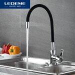 Cмеситель LEDEME L4153-2 мойка силик.излив черный 35мм в ставрополе