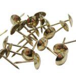 Гвозди мебельные латунированные 9,5, мал.головка (100шт) в ставрополе