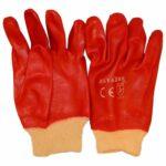 Перчатки прорезиненные маслобензостойкие красные удлиннённые в ставрополе