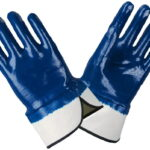 Перчатки прорезиненные маслобензостойкие синие в ставрополе